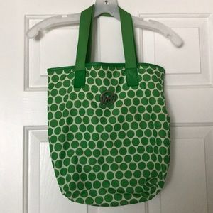 Authentic Polka dot nylon green Michael Kors bag